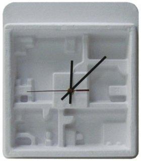 【HOUSE USE PRODUCTS】置き時計 ペーパーウォールクロック フループ(ホワイト)・HFT-162
