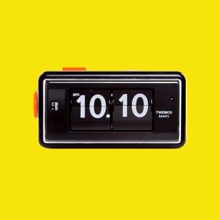 【TWEMCO】目覚まし時計 AL-30(ブラック)・TW6000