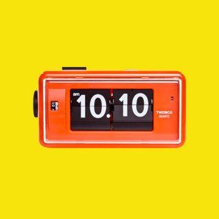 【TWEMCO】目覚まし時計 AL-30(オレンジ)・TW6001