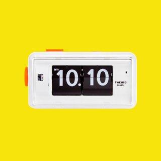 【TWEMCO】目覚まし時計 AL-30(ホワイト)・TW6002