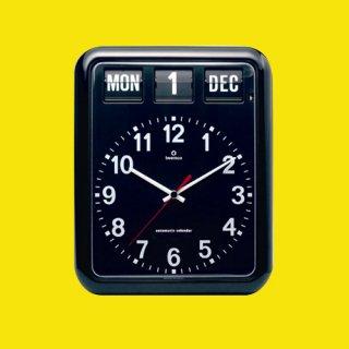 【TWEMCO】掛け時計 BQ-12A(ブラック)・TW6005