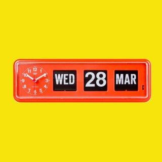【TWEMCO】置時計 BQ-38(オレンジ)・TW6014