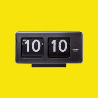 【TWEMCO】置時計 BQ-50(ブラック)・TW6016