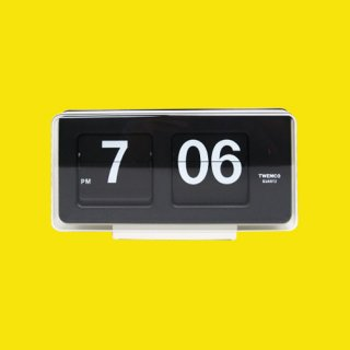 【TWEMCO】置時計 BQ-50(ホワイト)・TW6017
