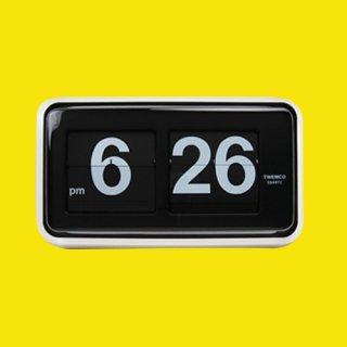 【TWEMCO】置時計 BQ-100(ブラック(ディスプレイ))・TW6020