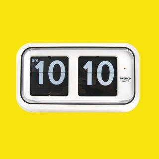 【TWEMCO】置時計 BQ-100(ホワイト)・TW6021