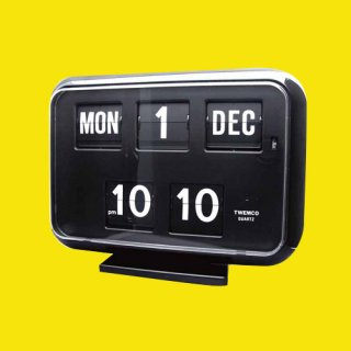 【TWEMCO】置時計 QD-35(ブラック)・TW6024
