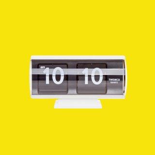 【TWEMCO】置時計 QT-30T(ホワイト)・TW6026