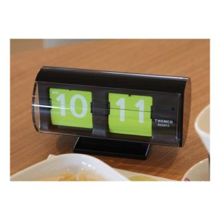 【TWEMCO】置時計 QT-30T(ブラック(グリーン文字盤))・TW6028【置時計専門店 時のしらべ】
