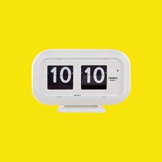【TWEMCO】置時計 QT-35(ホワイト)・TW6030