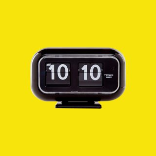 【TWEMCO】置時計 QT-35(ブラック)・TW6031