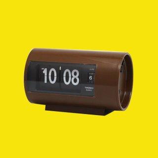 【TWEMCO】置時計 AP-28(ブラウン)・TW6039