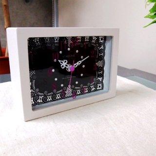 【スターライン】置き掛け両用時計時計レースクロック(ブラック)・STW-1173BK