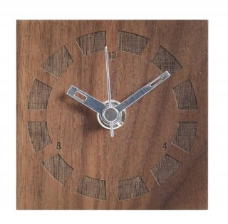 【ササキ工芸】置き時計 プチクロック サークル(ウォルナット)・CL-PETT-CI-W