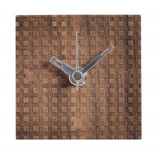 【ササキ工芸】置き時計 プチクロック ラティス(ウォルナット)・CL-PETT-LA-W