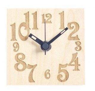【ササキ工芸】置き時計 プチクロック ナンバー(メープル)・CL-PETT-NU-M