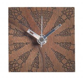 【ササキ工芸】置き時計 プチクロック パターン(ウォルナット)・CL-PETT-PT-W