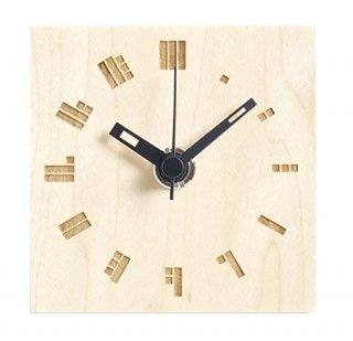 【ササキ工芸】置き時計 プチクロック ドットバー(メープル)・CL-PETT-DO-M