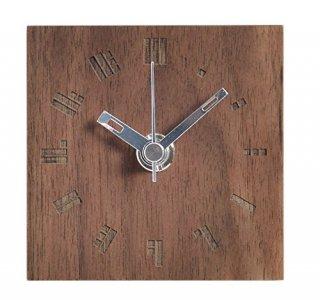【ササキ工芸】置き時計 プチクロック ドットバー(ウォルナット)・CL-PETT-DO-W
