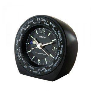 【ATOP】置き時計 ワールドタイムアラームクロック(アイボリー)・WB-5