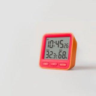 【MONDO】温湿度計付き時計 Thermo(オレンジ)・DH01-OR