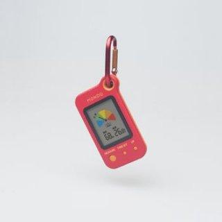 【MONDO】熱中症指数計(携帯タイプ) Heat(レッド)・DH02-RD