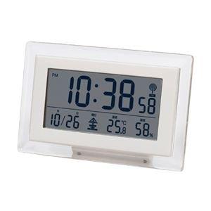 【SMARTEK】目覚まし時計 電波時計(ホワイト)・ML-466-YWH