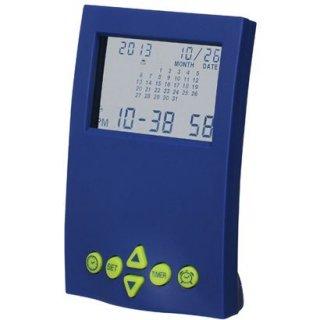 【SMARTEK】目覚まし時計 カレンダーアラームクロック(ブルー)・ML-190-YBL