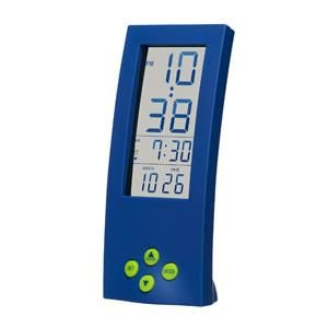 【SMARTEK】目覚まし時計 シースルーアラームクロック(ブルー)・ML-186-YBL