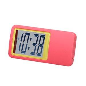 【SMARTEK】置き時計 シースルーミニクロック(ピンク)・ML-235-YPK