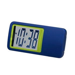 【SMARTEK】置き時計 シースルーミニクロック(ブルー)・ML-235-YBL