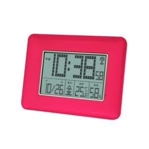 【SMARTEK】目覚まし時計 電波時計(ピンク)・ML-470-PK