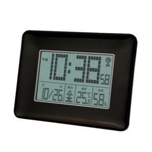 【SMARTEK】目覚まし時計 電波時計(ブラック)・ML-470-BK