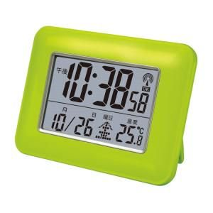 【SMARTEK】目覚まし時計 電波時計(グリーン)・ML-207-GR