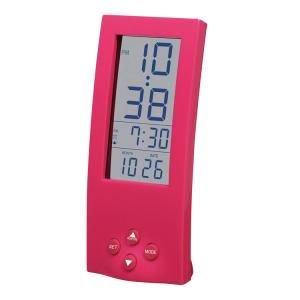 【SMARTEK】目覚まし時計 シースルーアラームクロック(ピンク)・ML-186-ZPK