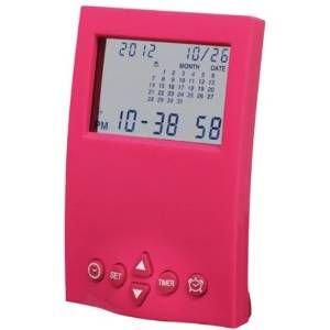 【SMARTEK】目覚まし時計 カレンダーアラームクロック(ピンク)・ML-190-ZPK