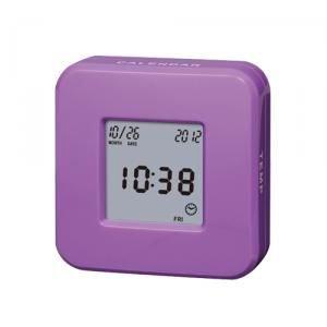 【SMARTEK】目覚まし時計 ローテーションクロック(パープル)・ML-246-ZPU