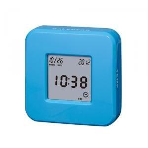【SMARTEK】目覚まし時計 ローテーションクロック(ブルー)・ML-246-ZBL