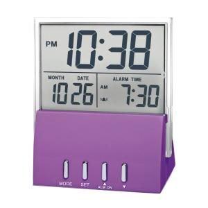 【SMARTEK】目覚まし時計 デジタルクロック(パープル)・ML-938-PU