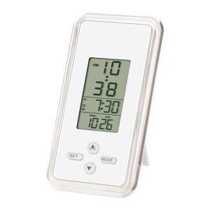 【SMARTEK】目覚まし時計 アラームクロック(ホワイト)・ML-208-ZWH