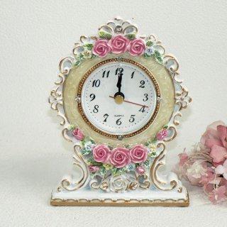 【GOLDCREST】置き時計 PR(アイボリー)・GO-1627IV