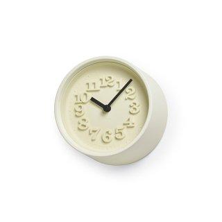 【Lemnos】DESIGN OBJECTS 置き時計 小さな時計(アイボリー)・WR07-15IV