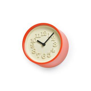 【Lemnos】DESIGN OBJECTS 置き時計 小さな時計(レッド)・WR07-15RE