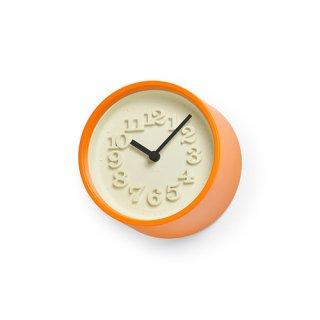 【Lemnos】DESIGN OBJECTS 置き時計 小さな時計(オレンジ)・WR07-15OR