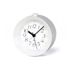 【Lemnos】DESIGN OBJECTS 目覚まし時計 RIKI ALARM CLOCK(ホワイト光沢塗装)・WR09-14WH