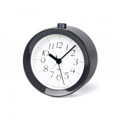 【Lemnos】DESIGN OBJECTS 目覚まし時計 RIKI ALARM CLOCK(グレー光沢塗装)・WR09-14GY