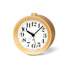【Lemnos】DESIGN OBJECTS 目覚まし時計 RIKI ALARM CLOCK(ナチュラル)・WR09-15NT