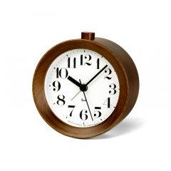 【Lemnos】DESIGN OBJECTS 目覚まし時計 RIKI ALARM CLOCK(ブラウン)・WR09-15BW