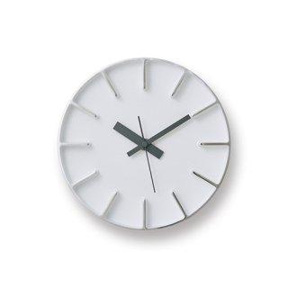 【Lemnos】DESIGN OBJECTS 置き掛け両用時計 edge clock(ホワイト)・AZ-0116WH