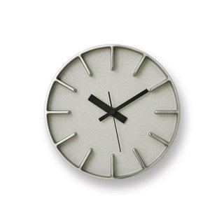 【Lemnos】DESIGN OBJECTS 置き掛け両用時計 edge clock(アルミニウム)・AZ-0116AL
